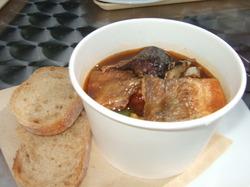 サンマとホッケの秋野菜スープ