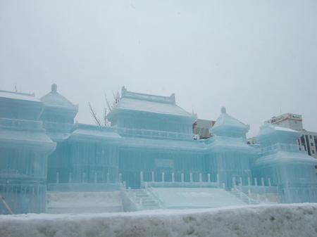 5丁目には大氷像「故宮博物院」