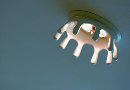 ドーム型の天井には「ミルククラウン(王冠)」の照明