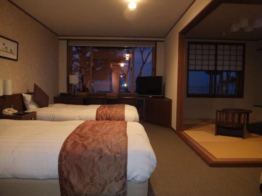 支笏湖畔の「翠明閣」客室