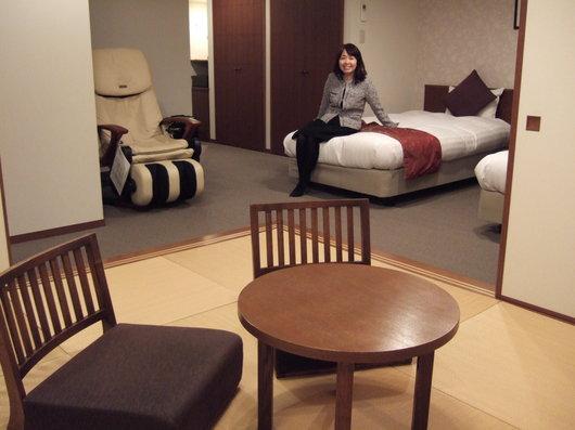 支笏湖畔の「翠明閣」和洋室