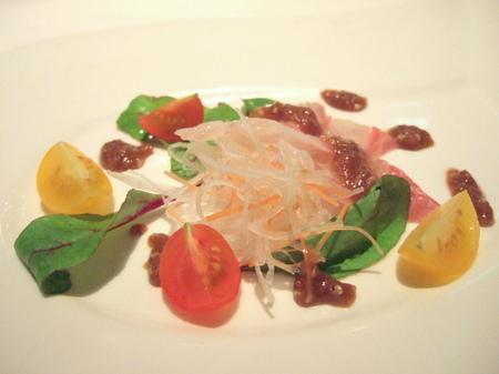 中華風・鯛のサラダ仕立て
