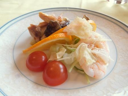 【札幌パークホテル】「生姜を使った冷菜二種盛り合わせ」