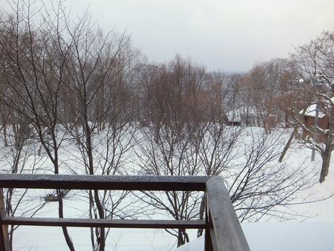 【支笏湖第一寶亭留翠山亭】テラスからの眺め