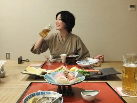 【小樽旅亭 藏群】湯上りビールに新鮮な海の幸
