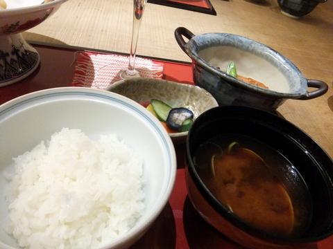 【小樽旅亭 藏群】ご飯は釜炊きの有機栽培「ななつぼし」