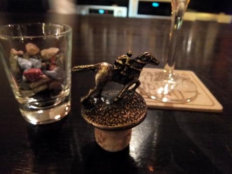 【翠山亭倶楽部定山渓】記念に、バーボンのコルクをいただいた