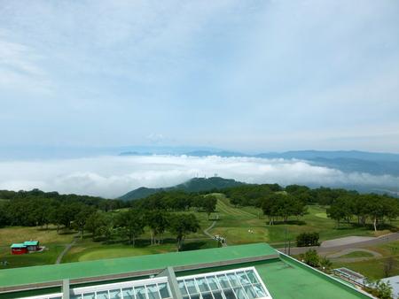 【ウィンザーホテル洞爺】海側に雲海が発生