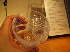 富良野に工房のある手作り「しばれ硝子」のグラス