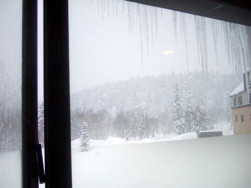 目の前は一面の雪景色