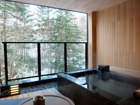客室の展望露天風呂