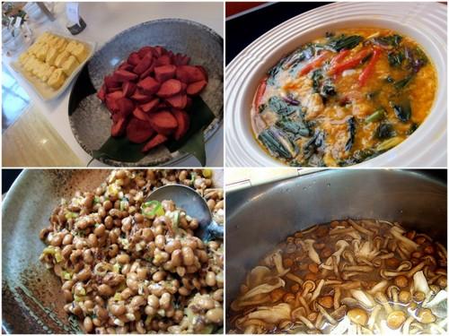 朝食バイキング 和食の品々
