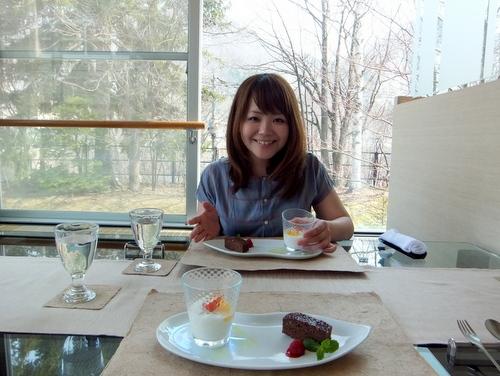杏仁豆腐&チョコブラウニー