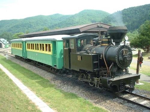 森林鉄道蒸気機関車「雨宮21号」