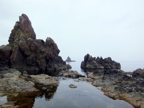 小谷石地区の宿から海沿い