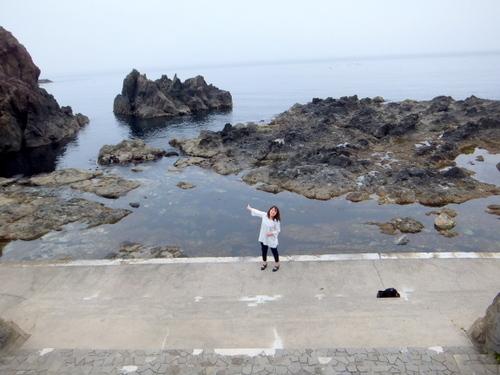 知内の岬は津軽海峡