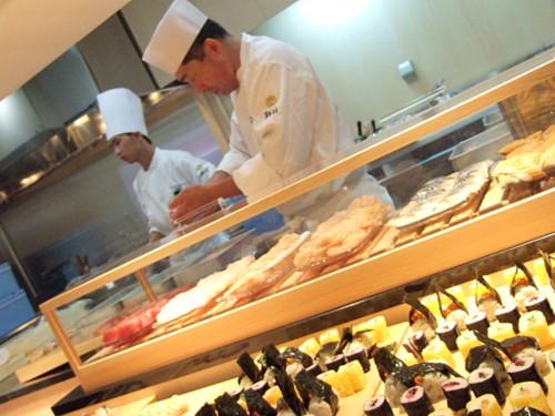 握りたての寿司