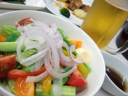 沙流川温泉ひだか高原荘 夕食のサラダ