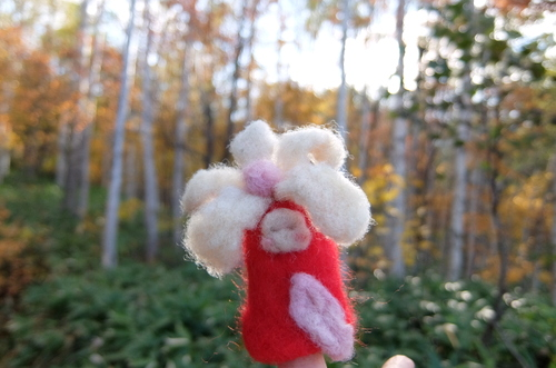 「きたいっしょモニターツアー」羊毛で作った花の妖精