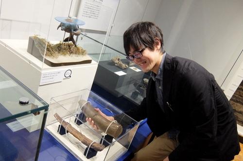 「北海道博物館~森のちゃれんが」海獣の骨の化石に触れることができる