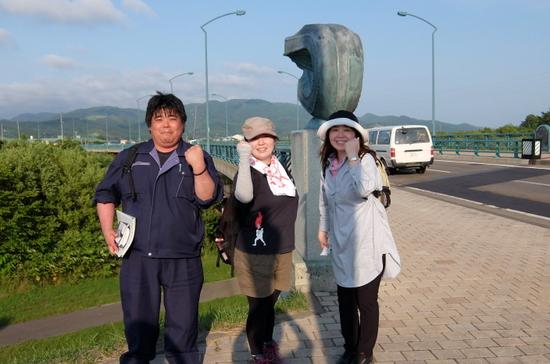 勝山館からの素晴らしいガイドさんと記念撮影