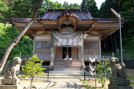 北海道に現存する神社建築では最古の神社「上ノ國八幡宮」外観