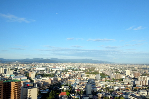 ホテルエミシア札幌から眺める朝の風景