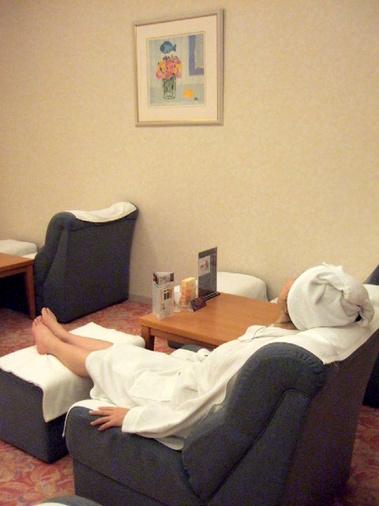 お風呂上りにのんびり休憩