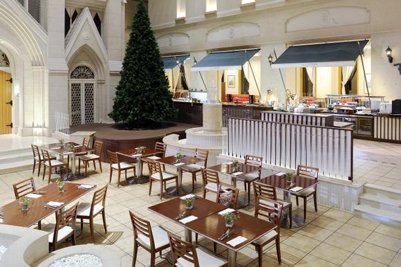 ブッフェ会場であるカフェ・ドムの一角