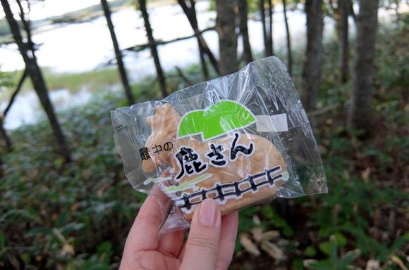 流氷まんじゅうで有名な「菓子処 小鹿」の「最中の鹿さん」