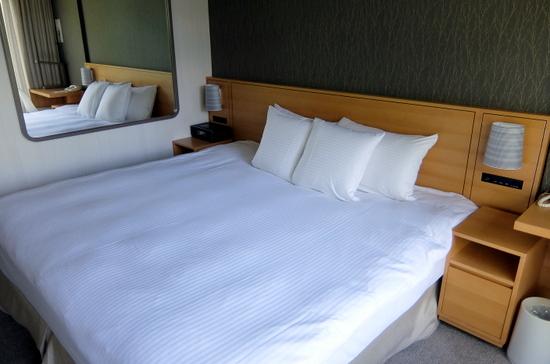ベッドが大きく、快適に過ごせる