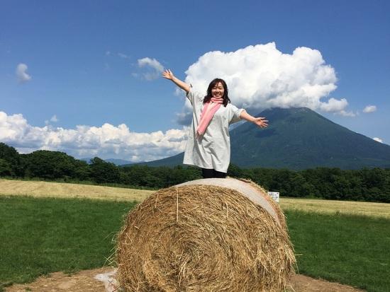 羊蹄山をバックにした絶景スポットで記念撮影をどうぞ
