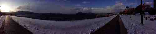 洞爺湖の雄大な景色