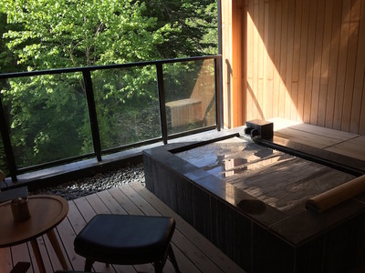 ニセコ昆布温泉鶴雅別荘 杢の抄 客室露天風呂