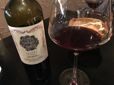 イタリアンレストラン「アンティーカ トラットリーア フォルトゥーナ グランデ」イタリアのピエモンテ州の赤ワイン