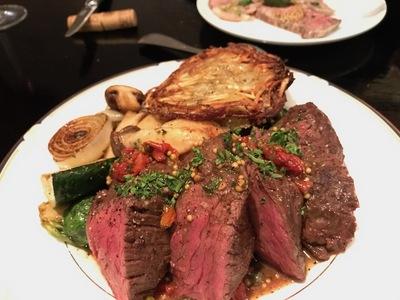 イタリアンレストラン「アンティーカ トラットリーア フォルトゥーナ グランデ」牛サガリのロースト