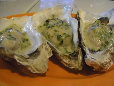 岩海苔バターを乗せた牡蠣