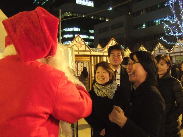 今年初めて札幌に 来てくれたサンタ