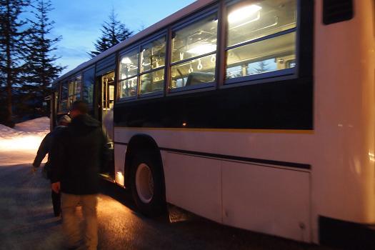 星野リゾートトマム内のシャトルバス