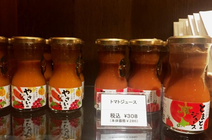 章月グランドホテルの売店で販売しているジュース