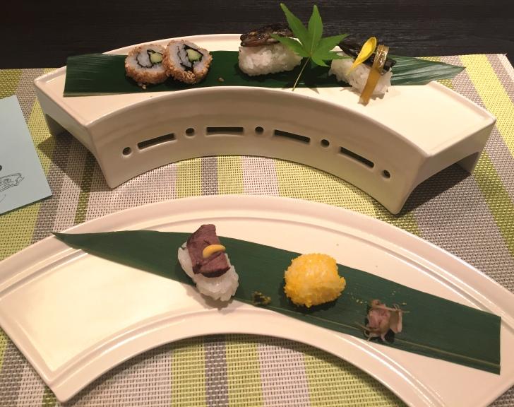 章月グランドホテルのお食事、先付