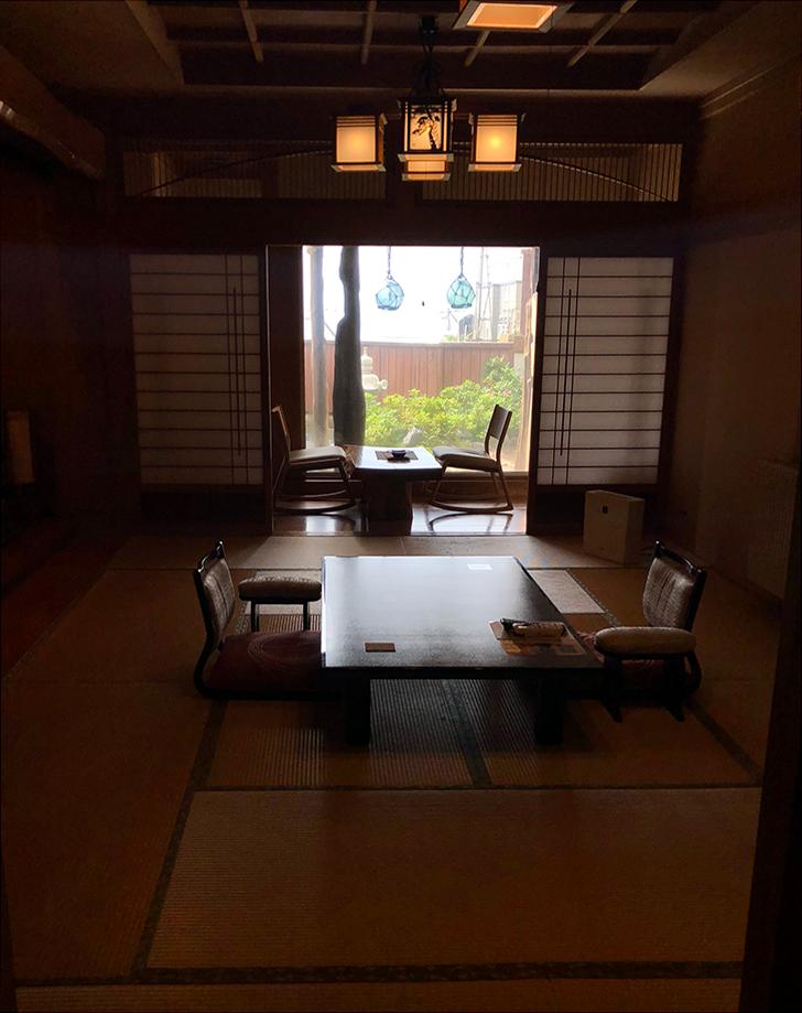 新館の露天風呂付和室