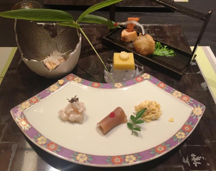 章月グランドホテルのお食事、前菜