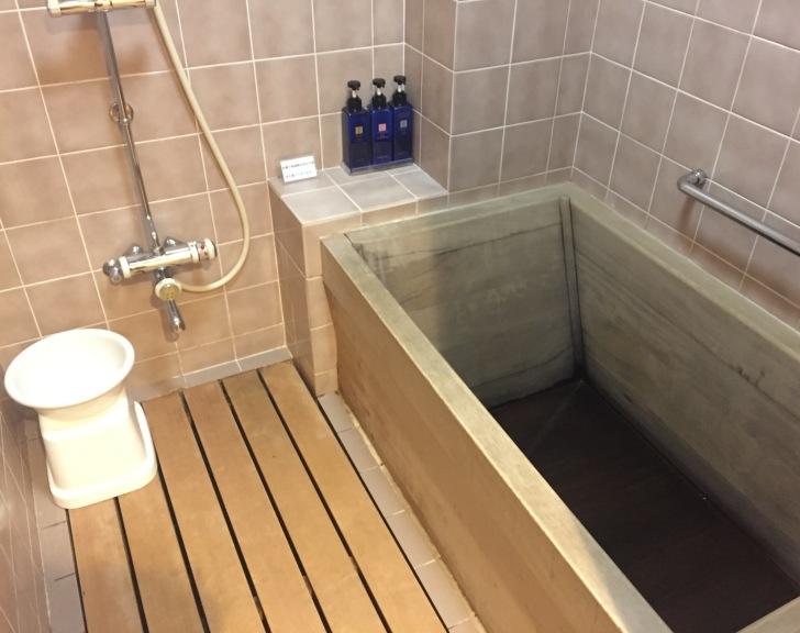 章月グランドホテルのお部屋のお風呂