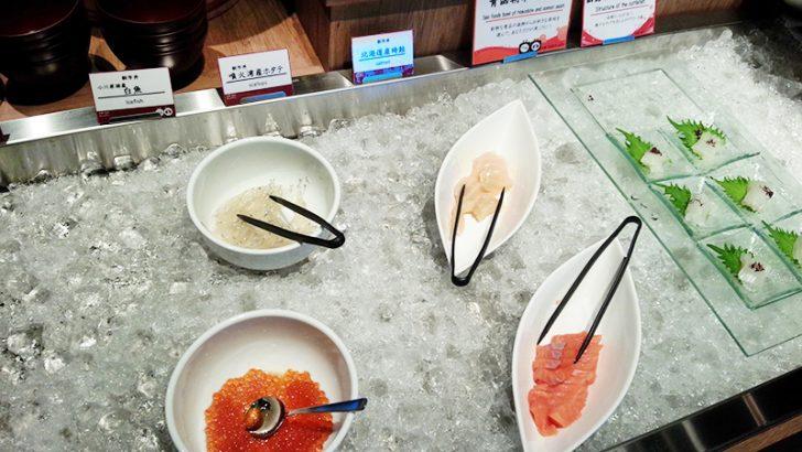 HAKODATE海峡の風の朝食ビュッフェ。イクラやホタテなどの北海道自慢の海鮮の数々