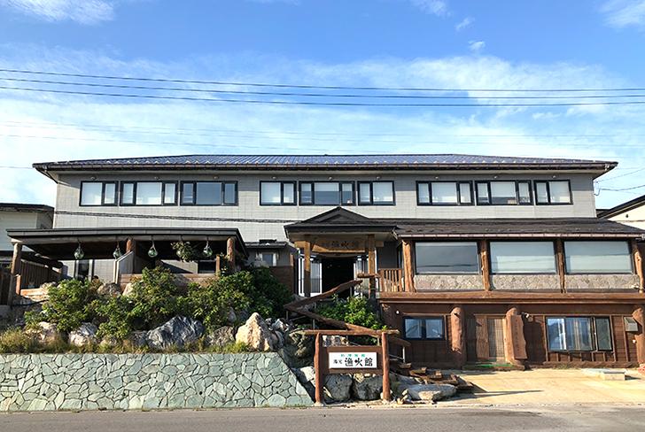 津軽海峡に面してたつ料理宿「漁火館」