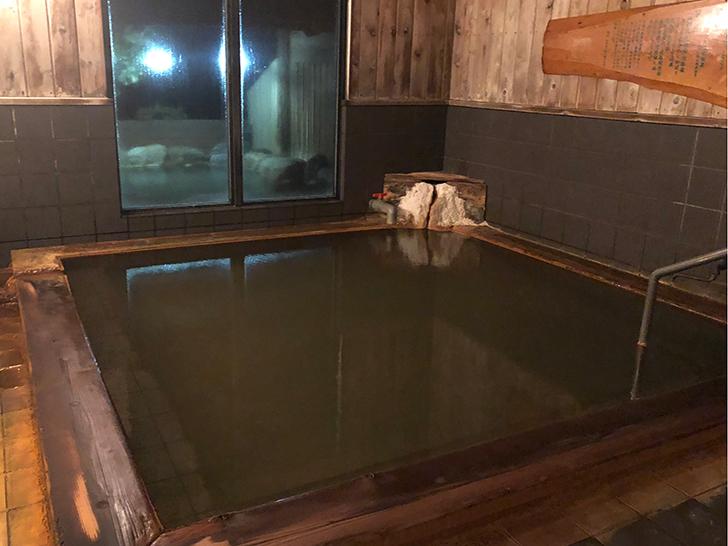内風呂も源泉100%掛け流し