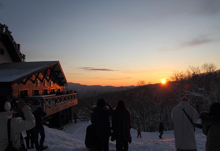 黒岳から見る朝陽