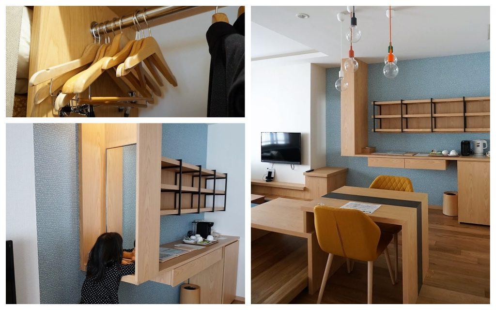 客室クロゼットやリビングスペース