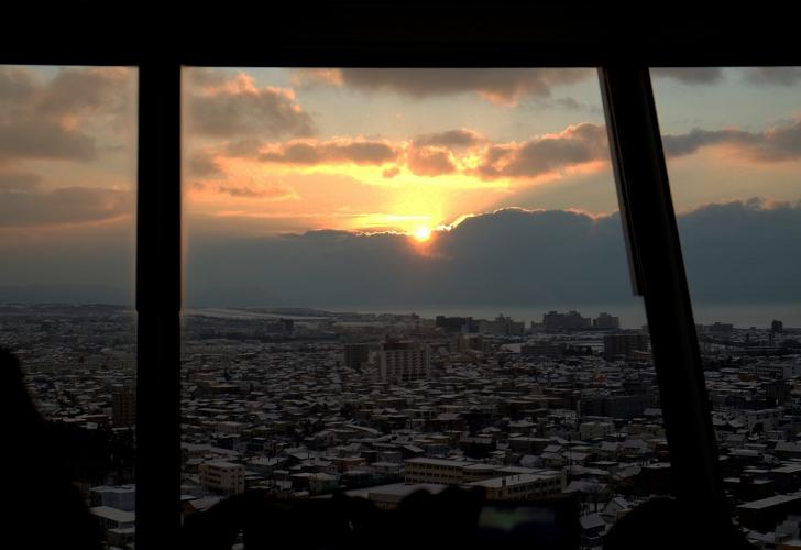 五稜郭タワーからの朝陽